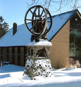 Bicentennial Monument on the grounds at The First Mennonite